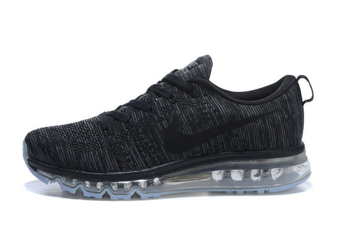 2015 Cheap Air Max Flyknit Black Grey For Womens On VaporMaxRunning