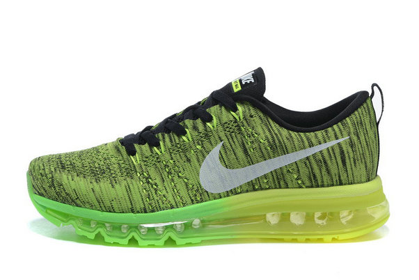 2015 Cheap Air Max Flyknit Green Black For Womens On VaporMaxRunning