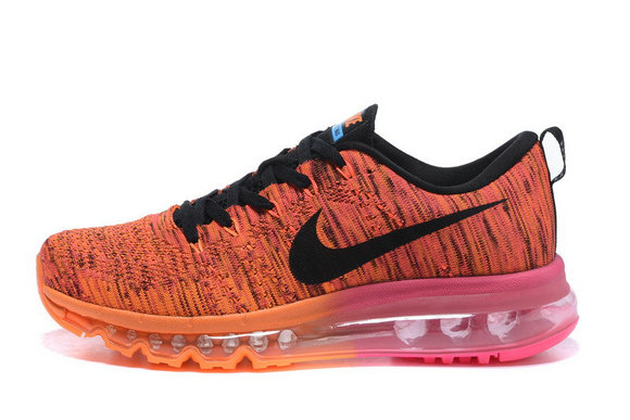 2015 Cheap Air Max Flyknit Orange Black Pink For Womens On VaporMaxRunning