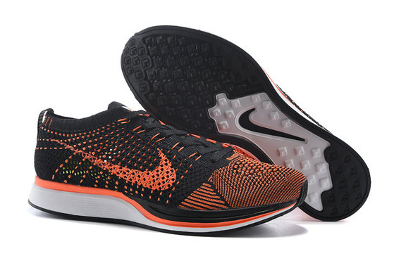 Womens Nike Flyknit Racer Black Orange White On VaporMaxRunning