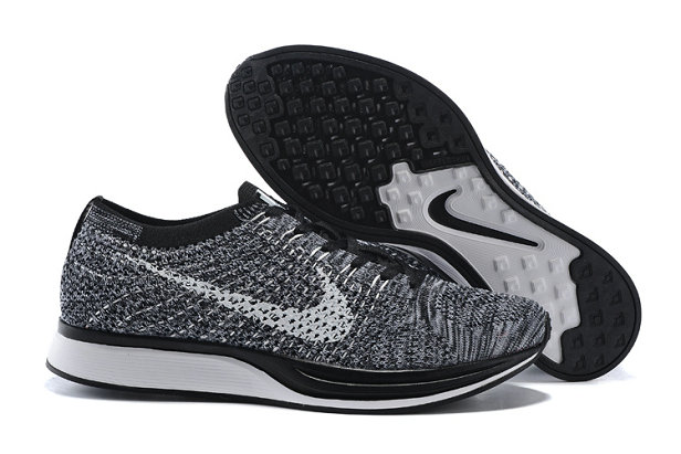 Womens Nike Flyknit Racer Grey Black White On VaporMaxRunning