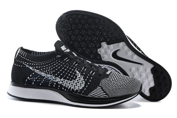 Cheap Nike Flyknit Racer Black Grey White On VaporMaxRunning