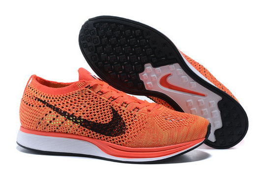 Cheap Nike Flyknit Racer Black White Orange On VaporMaxRunning