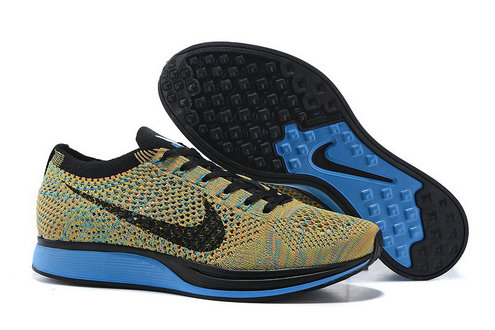Cheap Nike Flyknit Racer Colorful Black Blue On VaporMaxRunning