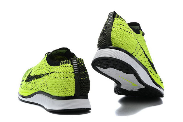 Cheap Nike Flyknit Racer Fluorescent Green Black White On VaporMaxRunning