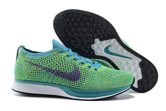 Cheap Nike Flyknit Racer Grass Green Blue Purple Black White On VaporMaxRunning