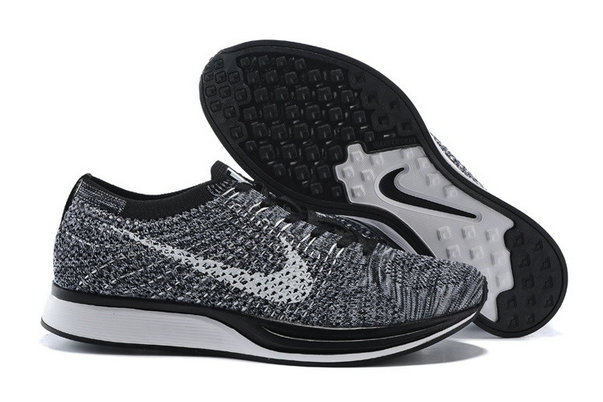 Cheap Nike Flyknit Racer Grey Black White On VaporMaxRunning