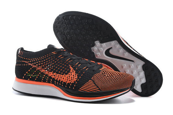Cheap Nike Flyknit Racer Orange Black White On VaporMaxRunning