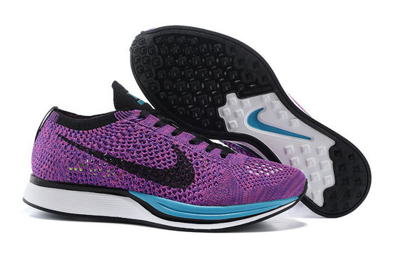 Cheap Nike Flyknit Racer Purple Black Blue White On VaporMaxRunning