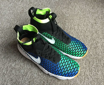 Cheap Nike Air Footscape Magista SP Green Blue Black White On VaporMaxRunning