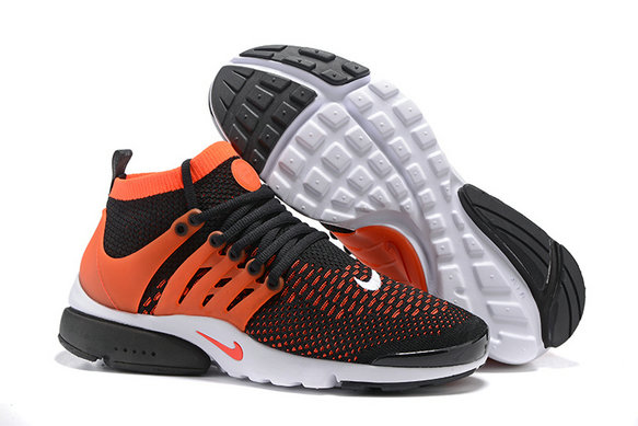Cheap Nike Air Presto Flyknit Ultra Black Orange White On VaporMaxRunning
