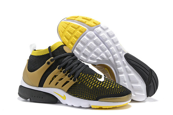 Cheap Nike Air Presto Flyknit Ultra Yellow Brown Black On VaporMaxRunning
