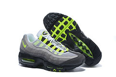 Cheap Nike Air Max 95 20th Anniversary Mens Black Gray Green On VaporMaxRunning