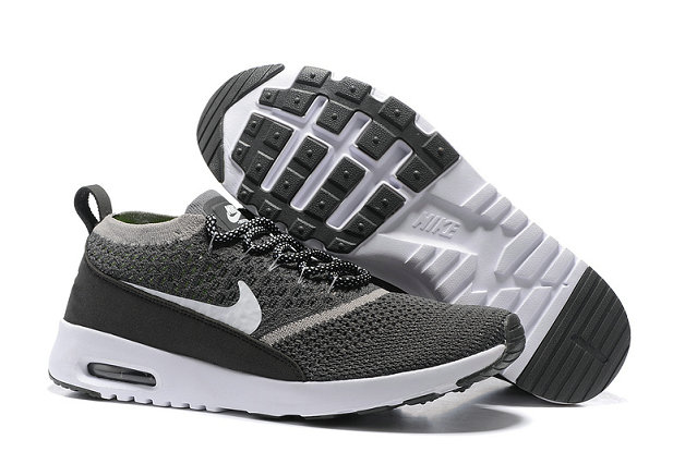 Cheap Nike Air Max Thea Flyknit Grey White Black On VaporMaxRunning