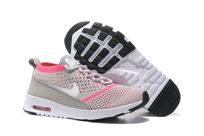 Cheap Nike Flyknit Air Max Thea Pink Grey Black On VaporMaxRunning