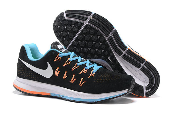 Cheap Nike Air Zoom Pegasus 33 Blue Orange White Black On VaporMaxRunning