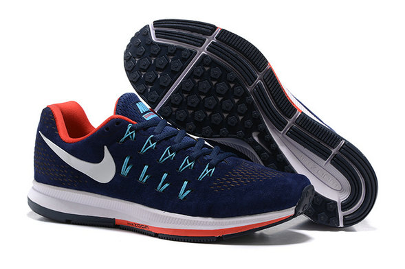 Cheap Nike Air Zoom Pegasus 33 Fire Red Navy Blue White On VaporMaxRunning