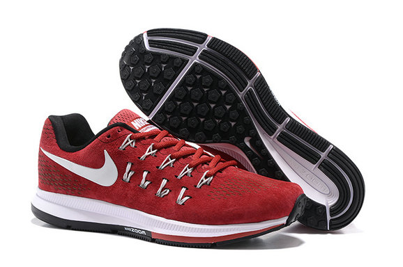 Cheap Nike Air Zoom Pegasus 33 Red Black White On VaporMaxRunning