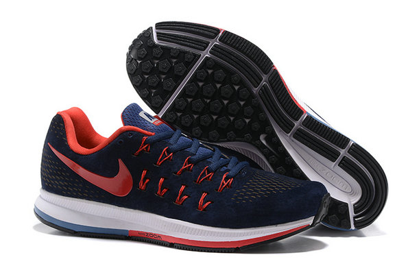 Cheap Nike Air Zoom Pegasus 33 White Red Navy Blue On VaporMaxRunning