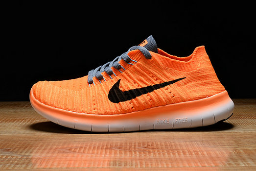Cheap Nike Free RN Flyknit Grey Orange Black On VaporMaxRunning