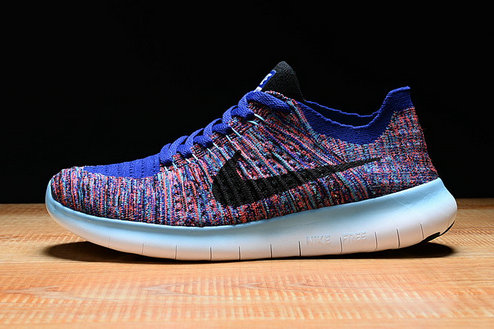 Cheap Nike Free Flyknit RN Black White Blue Pink On VaporMaxRunning