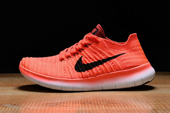 Cheap Nike Free Flyknit RN Red Orange White On VaporMaxRunning