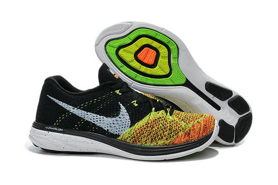 Cheap Nike Lunar 3 Flyknit Green Black Grey Orange On VaporMaxRunning