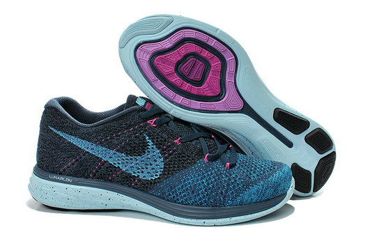 Cheap Nike Flyknit Lunar 3 Womens Blue Blak Purple On VaporMaxRunning