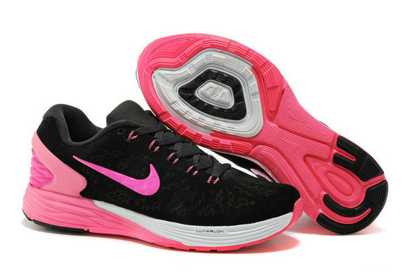 Cheap Nike LunarGlide 6 Womens Pink Black White On VaporMaxRunning