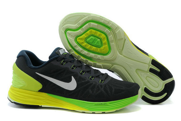 Cheap Nike LunarGlide 6 Black Fluorescent Green On VaporMaxRunning