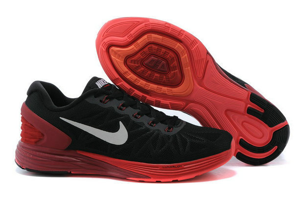 Cheap Nike LunarGlide 6 Fire Red Black On VaporMaxRunning