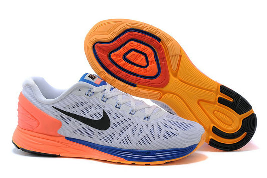 Cheap Nike LunarGlide 6 Orange Grey Blue Black On VaporMaxRunning