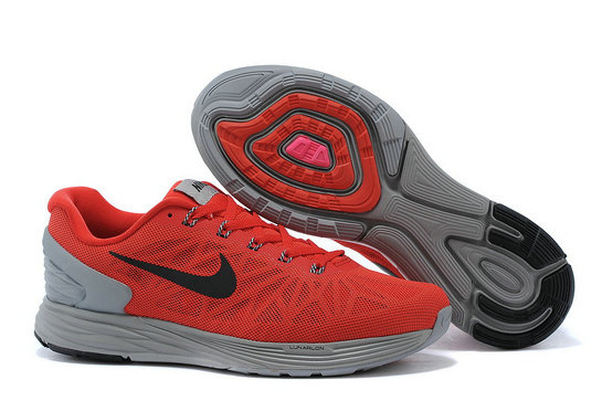 Cheap Nike LunarGlide 6 Red Grey Black On VaporMaxRunning