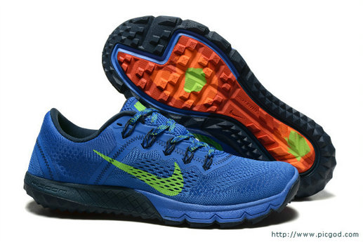 Cheap Nike Zoom TERRA Kinger 2 Green Royal Blue Orange Black On VaporMaxRunning
