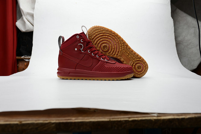 Cheap Nike Lunar Force 1 Duck Boot Burgundy On VaporMaxRunning