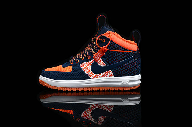 Cheap Nike Lunar Force 1 Duck Boot Orange Navy Blue White On VaporMaxRunning
