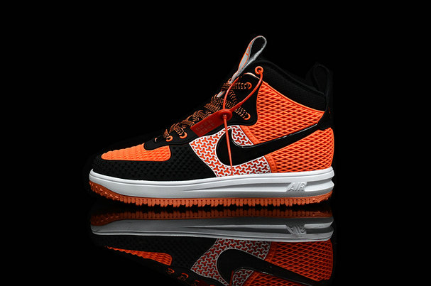 Cheap Nike Lunar Force 1 Duck Boot Orange White Black On VaporMaxRunning