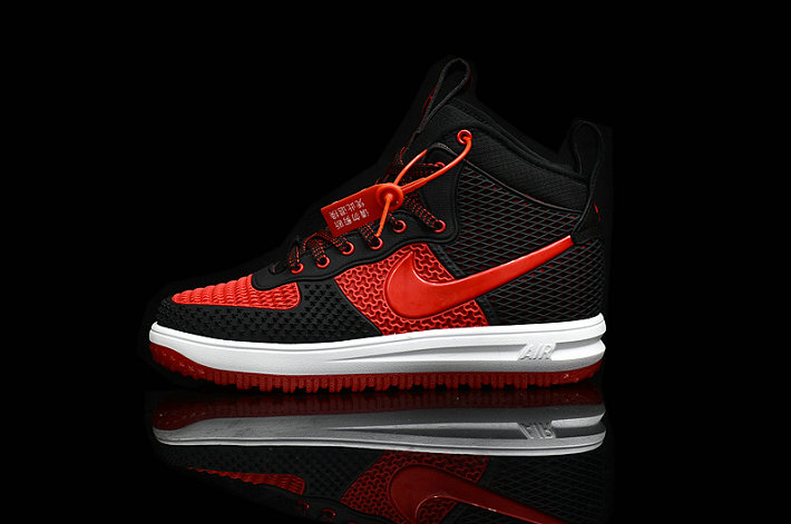 Cheap Nike Lunar Force 1 Duck Boot Red Black White On VaporMaxRunning