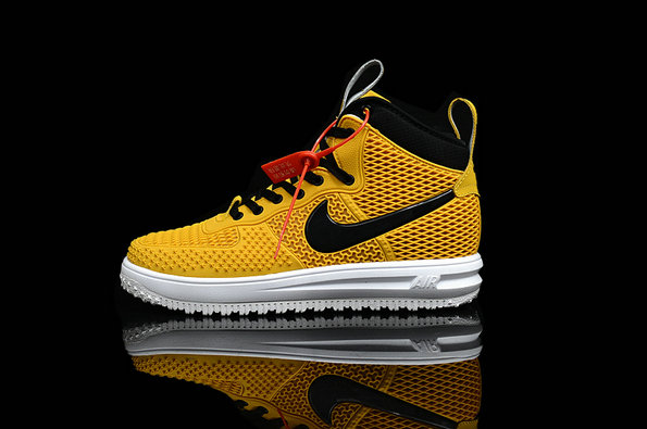 Cheap Nike Lunar Force 1 Duck Boot Yellow Black White On VaporMaxRunning