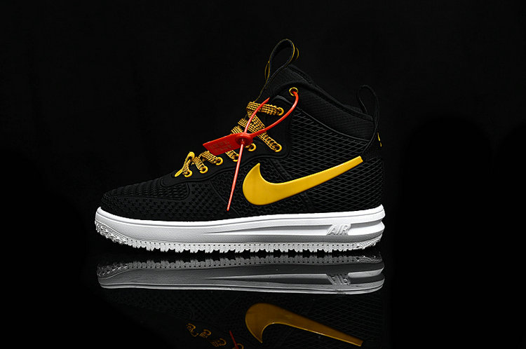 Cheap Nike Lunar Force 1 Duck Boot Yellow White Black On VaporMaxRunning