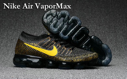 Cheap Nike Air VaporMax Yellow Black On VaporMaxRunning