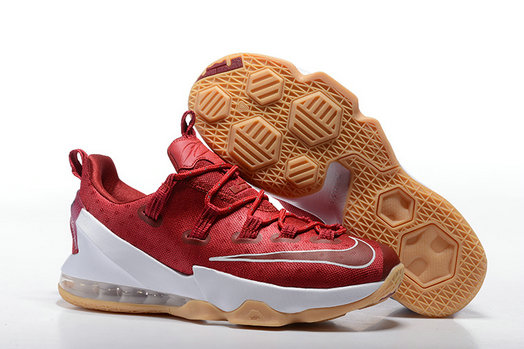 Cheap NikeLebronJames 13 Low Red White On VaporMaxRunning