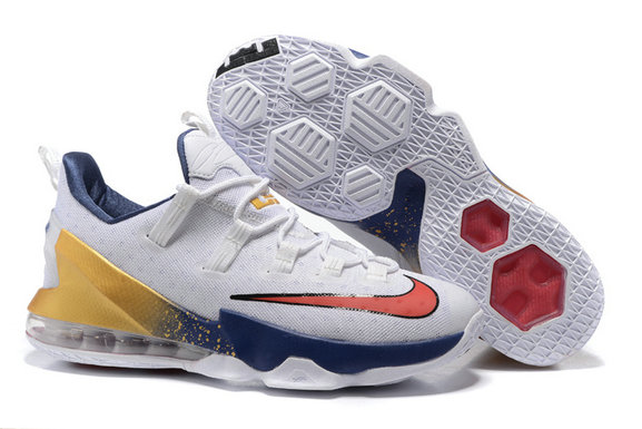 Cheap NikeLebronJames 13 Low White Yellow Red Blue On VaporMaxRunning