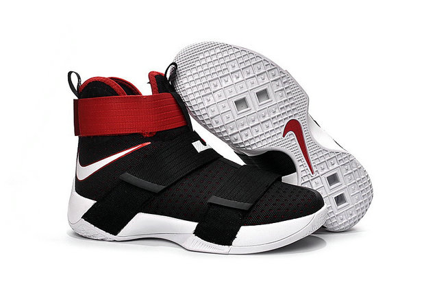 Cheap Nike Lebr On Soldier 10 Kids Red Black WhiteOn VaporMaxRunning