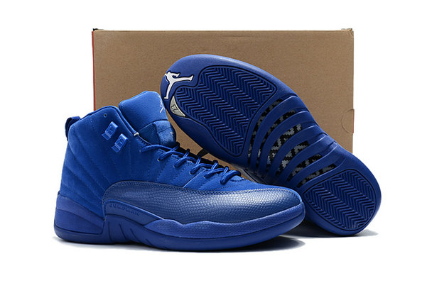 Cheap Air Jordan 12 Deep Royal Blue On VaporMaxRunning
