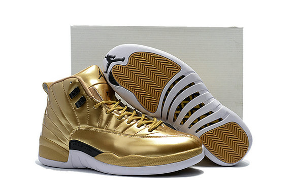 Cheap Air Jordan 12 Pinnacle Metallic Gold On VaporMaxRunning