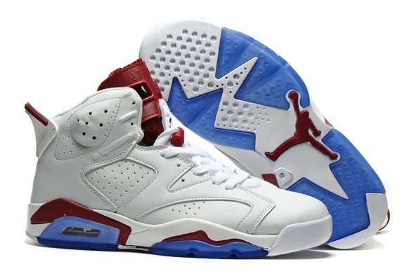 Cheap AirJordan 6 Retro Blue Wine Red White On VaporMaxRunning