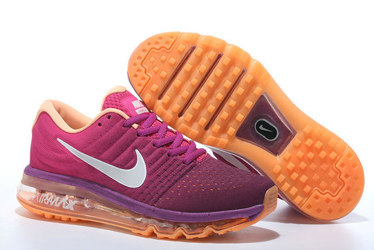 Cheap Air Max 2017 Women Purple Grey Orange On VaporMaxRunning