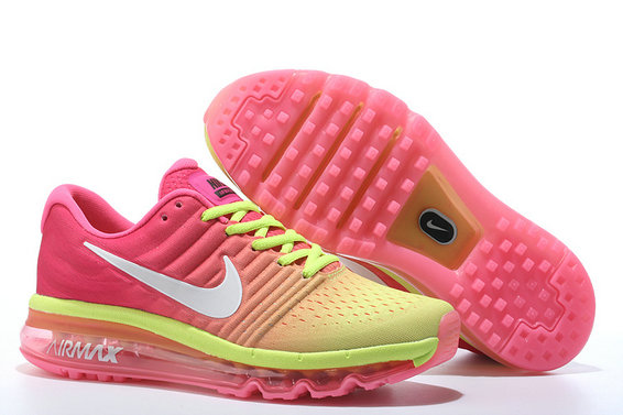 Cheap Air Max 2017 Women Fluorescent Green Pink White On VaporMaxRunning