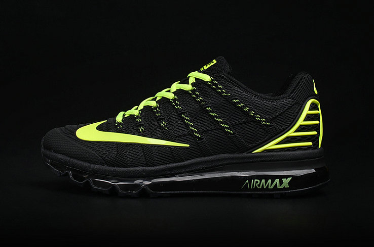 Cheap AirMax 2016 Fluorescent Green Black On VaporMaxRunning